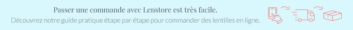 Passer une commande avec Lenstore est très facile. Découvrez notre guide pratique étape par étape pour commander des lentilles en ligne.
